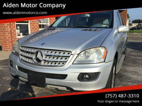 2008 Mercedes-Benz M-Class for sale at Aiden Motor Company in Portsmouth VA