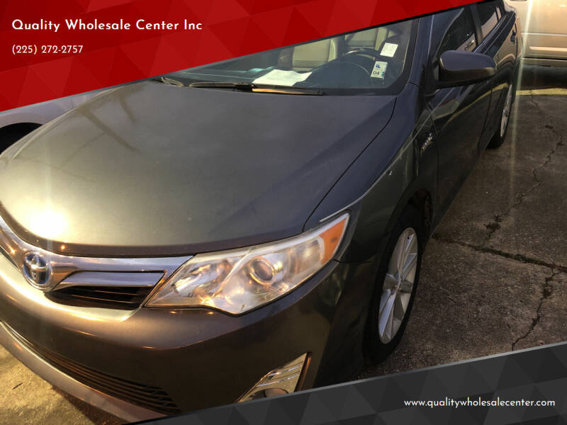2012 Toyota Camry Hybrid for sale at Quality Wholesale Center Inc in Baton Rouge LA
