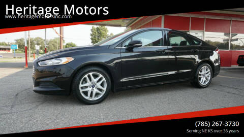 2015 Ford Fusion for sale at Heritage Motors in Topeka KS