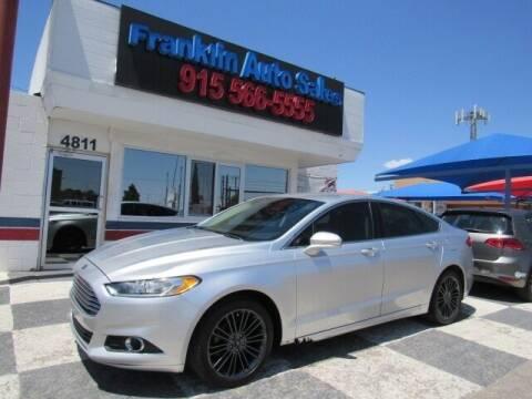2014 Ford Fusion for sale at Franklin Auto Sales in El Paso TX