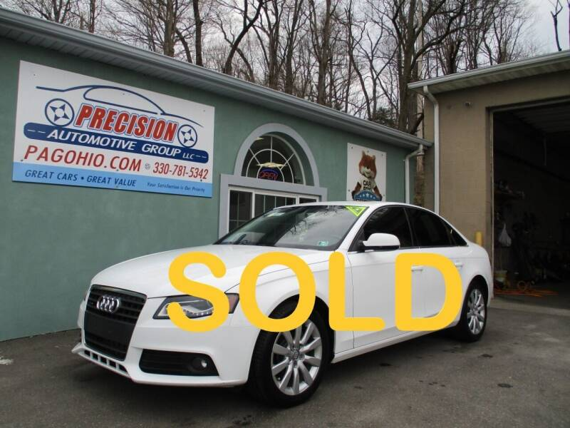 2012 Audi A4 for sale at Precision Automotive Group in Youngstown OH