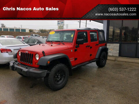 2010 Jeep Wrangler Unlimited for sale at Chris Nacos Auto Sales in Derry NH