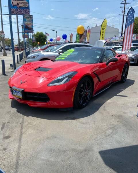 2016 Chevrolet Corvette for sale at 2955 FIRESTONE BLVD - 3271 E. Firestone Blvd Lot in South Gate CA