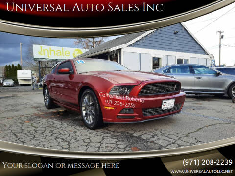 2014 Ford Mustang for sale at Universal Auto Sales Inc in Salem OR