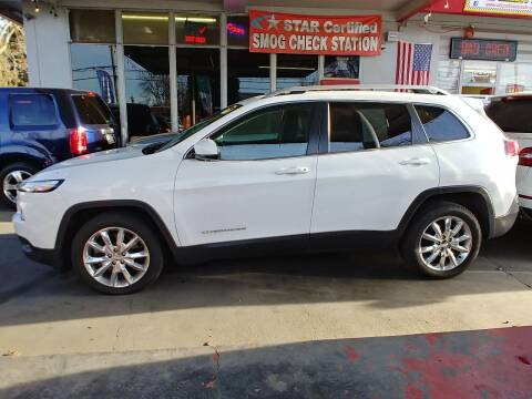 2016 Jeep Cherokee for sale at ALL CREDIT AUTO SALES in San Jose CA