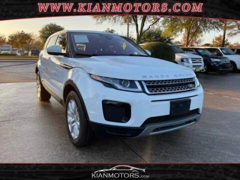 2018 Land Rover Range Rover Evoque for sale at KIAN MOTORS INC in Plano TX