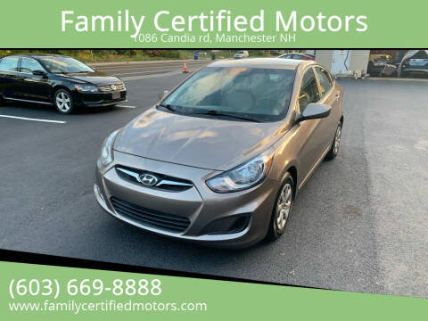 2014 Hyundai Accent for sale at Family Certified Motors in Manchester NH
