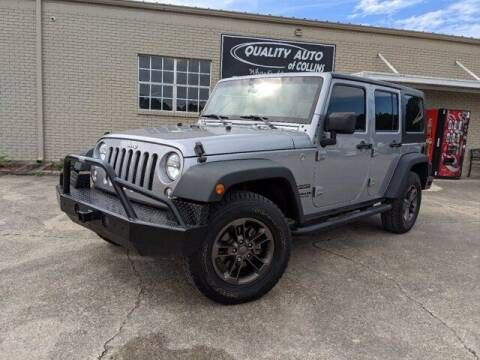 2016 Jeep Wrangler Unlimited for sale at Quality Auto of Collins in Collins MS