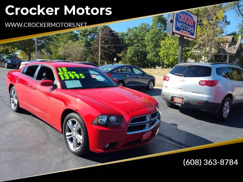 2013 Dodge Charger for sale at Crocker Motors in Beloit WI