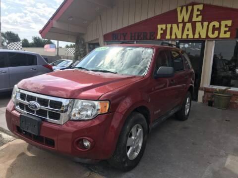 2008 Ford Escape for sale at Caspian Auto Sales in Oklahoma City OK