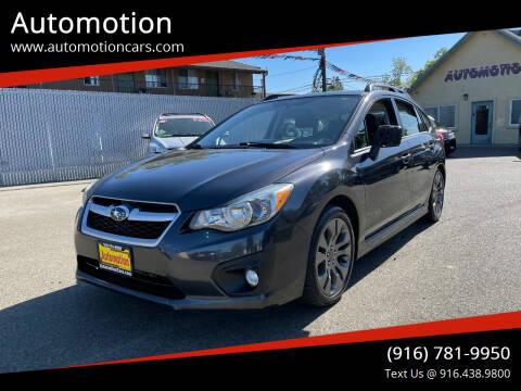 2014 Subaru Impreza for sale at Automotion in Roseville CA