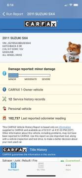 2011 Suzuki SX4 Crossover for sale at ICar Florida in Lutz FL