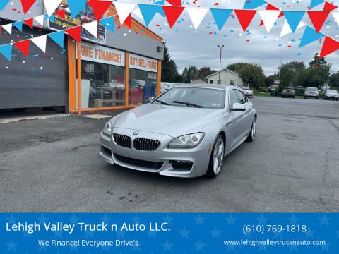 2013 BMW 6 Series for sale at Lehigh Valley Truck n Auto LLC. in Schnecksville PA