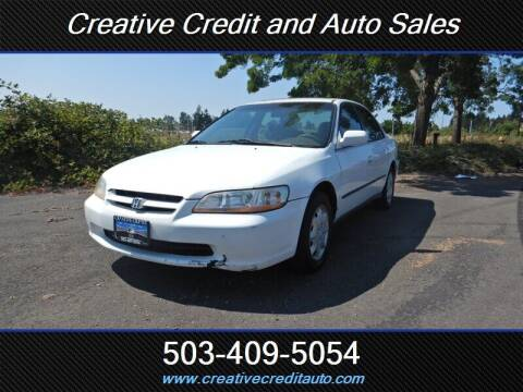 1998 Honda Accord for sale at Creative Credit & Auto Sales in Salem OR