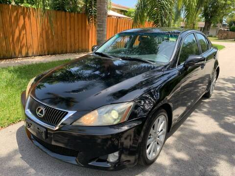2010 Lexus IS 250 for sale at FINANCIAL CLAIMS & SERVICING INC in Hollywood FL