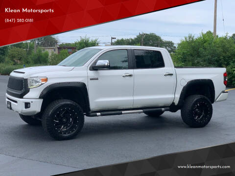 2014 Toyota Tundra for sale at Klean Motorsports in Skokie IL
