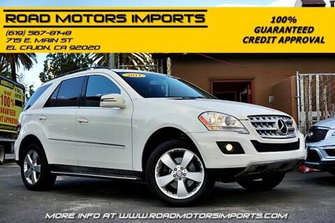 2011 Mercedes-Benz M-Class for sale at Road Motors Imports in El Cajon CA