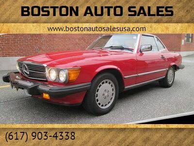 1987 Mercedes-Benz 560-Class for sale at Boston Auto Sales in Brighton MA