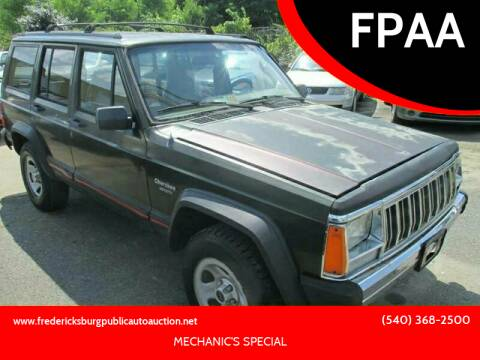 1995 Jeep Cherokee for sale at FPAA in Fredericksburg VA