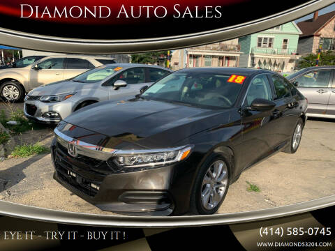 2018 Honda Accord for sale at Diamond Auto Sales in Milwaukee WI