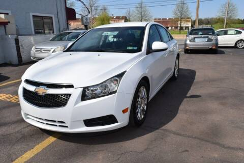 2012 Chevrolet Cruze for sale at L&J AUTO SALES in Birdsboro PA