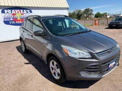 2013 Ford Escape for sale at Praylea's Auto Sales in Peyton CO