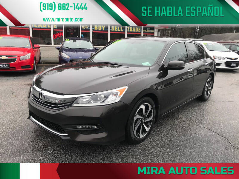 2017 Honda Accord for sale at Mira Auto Sales in Raleigh NC