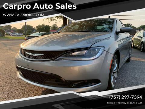 2015 Chrysler 200 for sale at Carpro Auto Sales in Chesapeake VA