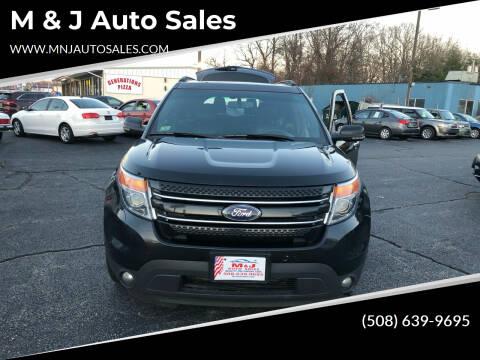 2011 Ford Explorer for sale at M & J Auto Sales in Attleboro MA