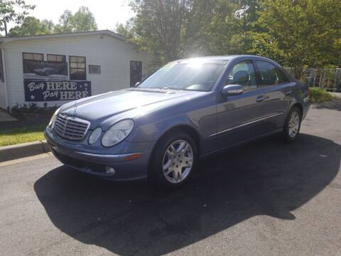 2005 Mercedes-Benz E-Class for sale at TR MOTORS in Gastonia NC
