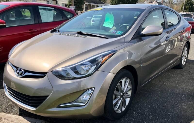 2015 Hyundai Elantra for sale at Mayer Motors of Pennsburg in Pennsburg PA