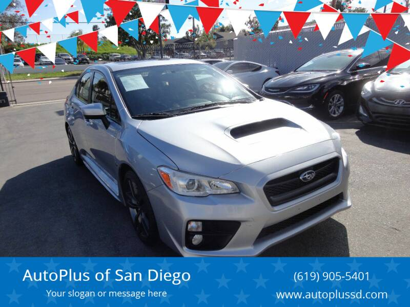 2016 Subaru WRX for sale at AutoPlus of San Diego in Spring Valley CA