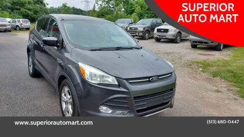 2015 Ford Escape for sale at SUPERIOR AUTO MART in Amelia OH