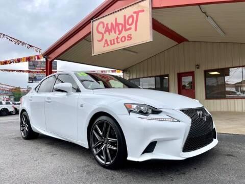 2015 Lexus IS 250 for sale at Sandlot Autos in Tyler TX