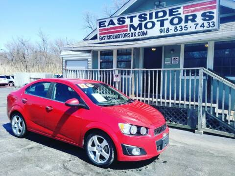 2012 Chevrolet Sonic for sale at EASTSIDE MOTORS in Tulsa OK