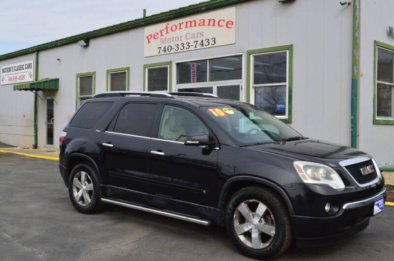 2010 GMC Acadia for sale at Performance Motor Cars in Washington Court House OH
