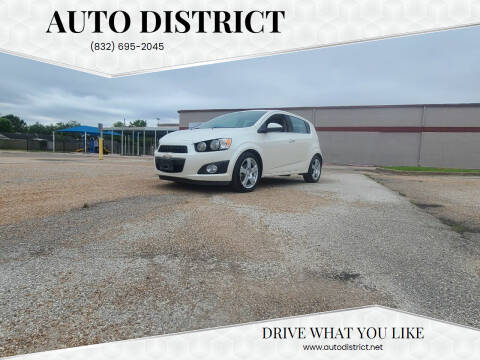 2015 Chevrolet Sonic for sale at Auto District in Baytown TX