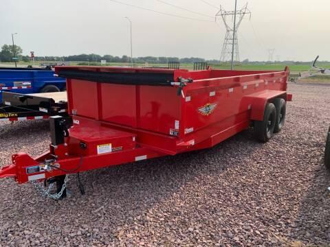 2022 H&H DBW-16 Red #1371 for sale at Prairie Wind Trailers, LLC in Harrisburg SD