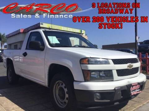 2012 Chevrolet Colorado for sale at CARCO SALES & FINANCE in Chula Vista CA