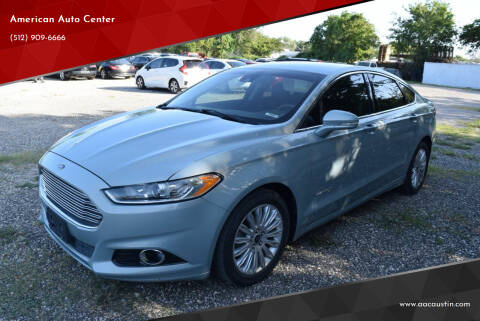 2013 Ford Fusion Hybrid for sale at American Auto Center in Austin TX