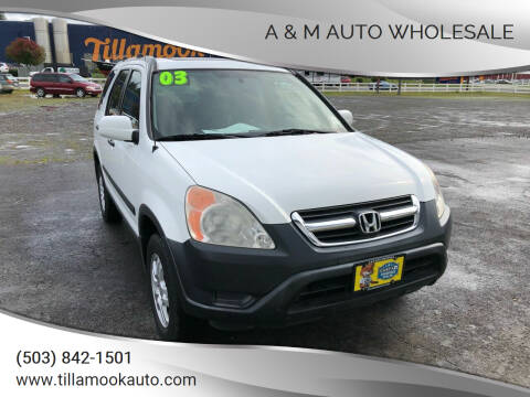 2003 Honda CR-V for sale at A & M Auto Wholesale in Tillamook OR
