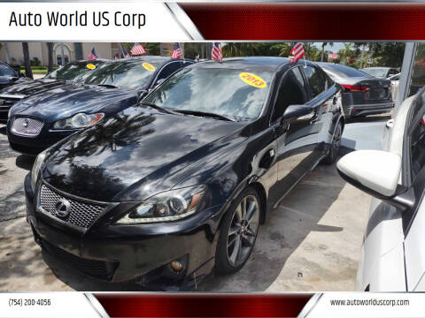 2013 Lexus IS 250 for sale at Auto World US Corp in Plantation FL