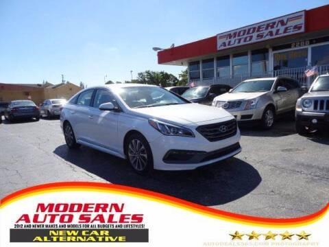 2015 Hyundai Sonata for sale at Modern Auto Sales in Hollywood FL