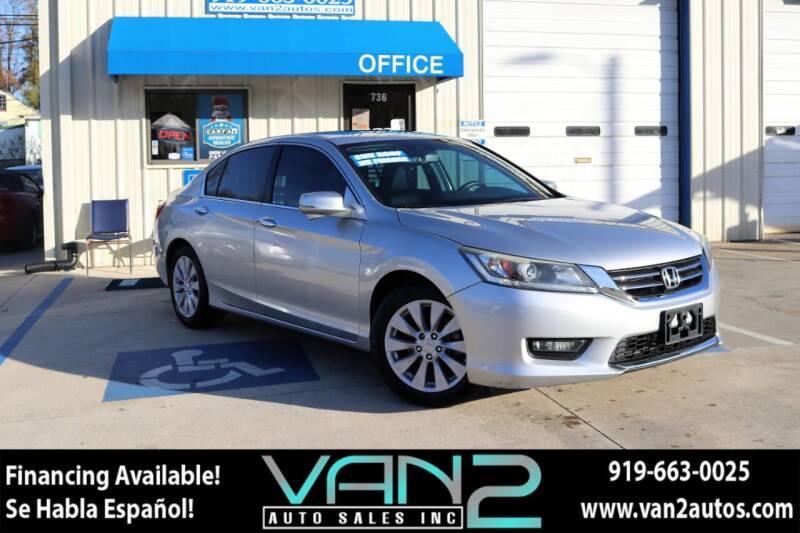 2014 Honda Accord for sale at Van 2 Auto Sales Inc in Siler City NC