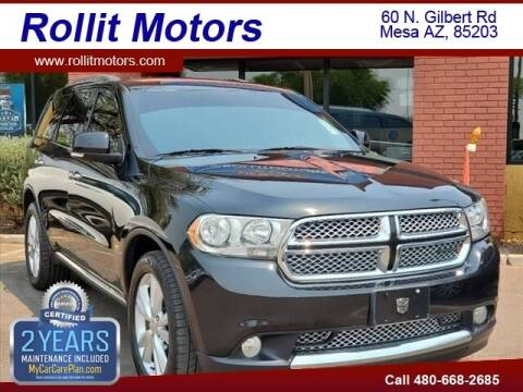2013 Dodge Durango for sale at Rollit Motors in Mesa AZ