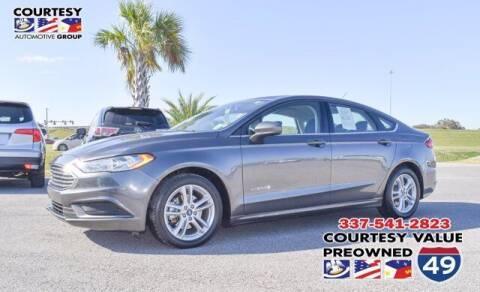 2018 Ford Fusion Hybrid for sale at Courtesy Value Pre-Owned I-49 in Lafayette LA