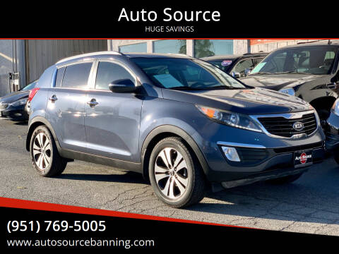 2011 Kia Sportage for sale at Auto Source in Banning CA