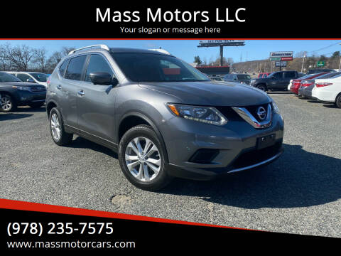 2016 Nissan Rogue for sale at Mass Motors LLC in Worcester MA
