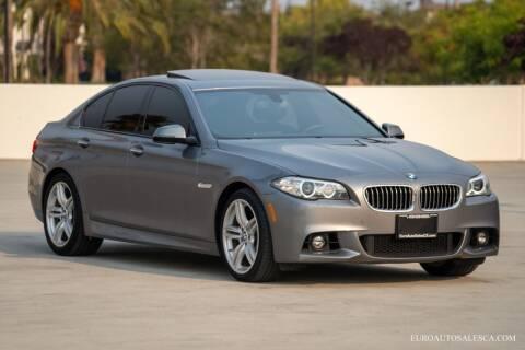 2016 BMW 5 Series for sale at Euro Auto Sales in Santa Clara CA
