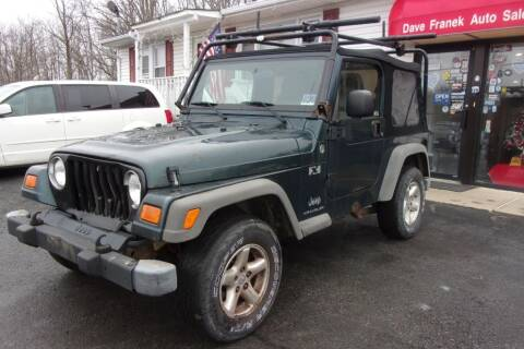 2005 Jeep Wrangler for sale at Dave Franek Automotive in Wantage NJ